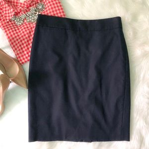 J. Crew Pencil Navy Skirt